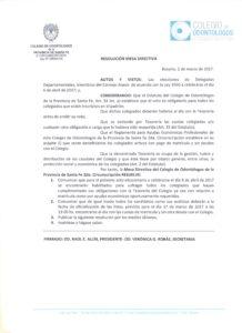 RESOLUCIÓN 2 DE MARZO